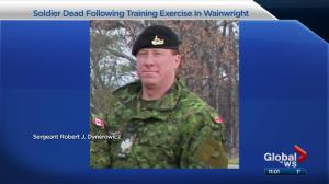 Canadian soldier dies during training in Alberta