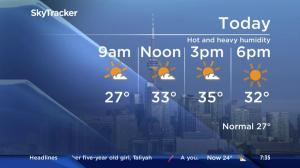 Heat warning in effect for GTA