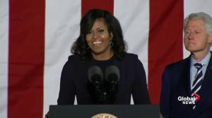 First lady Michelle Obama asks America to make history once again