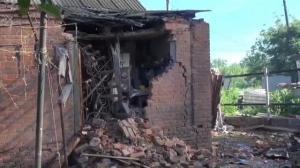 Raw video: Aftermath of artillery bombardment in Slovyansk, Ukraine