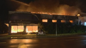 Furniture store fire causes huge damage