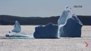 Large iceberg visible off the coast of Newfoundland