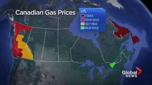 Gas prices rising across Canada