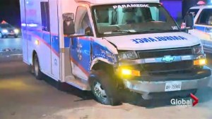 Ambulance crash in Mississauga