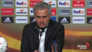 Manchester united manager says terror attack takes away from Europa league victory