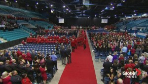 RCMP greeted with standing ovation when entering memorial service