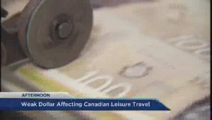 Lower loonie affecting summer travel plans