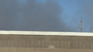 Fire crews called to massive blaze at Winnipeg autobody shop