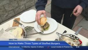 BBQ Tips Making stuffed burgers