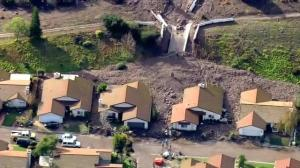 Raw video: Heavy rains trigger mudslide in Camirillo Springs, California