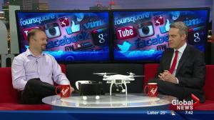 Talking drones with online security expert