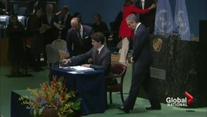 Canada joins more than 170 countries to sign climate agreement