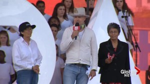 Gord Downie speaks out for indigenous people's struggle over the last 150 years