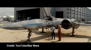 First look at X-wing fighter from new Star Wars movie