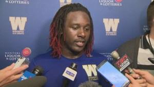 RAW: Winnipeg Blue Bombers Timothy Flanders postgame