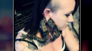 Oregon woman's pet python gets stuck in earlobe