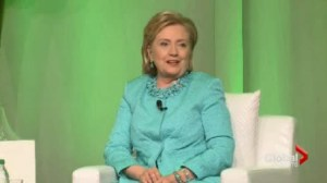 US Secretary of State and possible 2016 presidential candidate Hillary Clinton was in Toronto today.