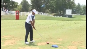 Tiger Woods arrives at PGA Championship with ailing back