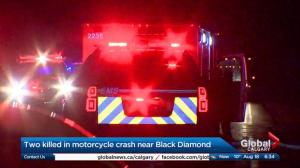 2 dead after motorcycle crashes south of Black Diamond