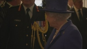 Footage of Queen visiting Canada House in London