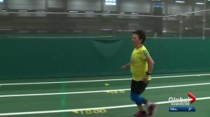 Edmonton woman with rare genetic condition runs the Boston Marathon