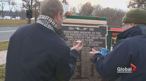 Replacement for stolen plaques arrive just in time for Fredericton's Remembrance Day