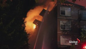 Massive condo fire in Surrey leaves residents homeless