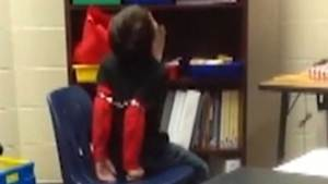 Child shackled by police officer at school caught on camera