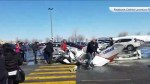 Two small planes collide above mall in Quebec