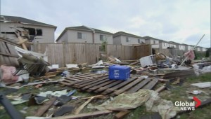 Houses in Angus ripped apart by tornado