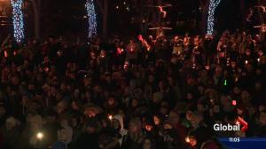 Massive crowd converges at Edmonton vigil for Quebec shooting victims