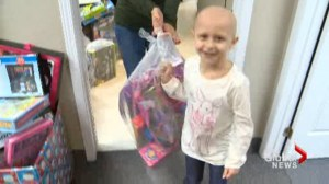 Gift bags brighten up children's spirits when they're feeling down