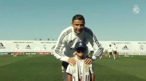 Cristiano Ronaldo welcomes son of refugee tripped by camerawoman onto pitch with him