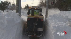 Crews work frantically to clear New Brunswick snow, prepare for next storm