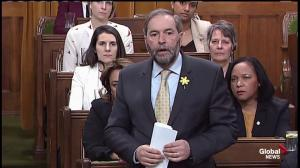 Mulcair wants to know where the budget is
