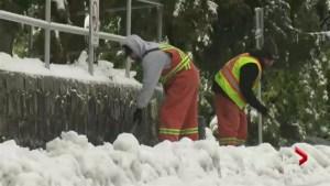 Heavy snowfall in Metro Vancouver