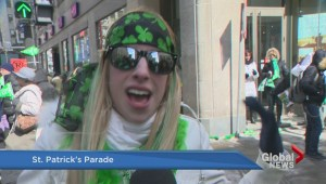 Montrealers at the St-Patrick's parade
