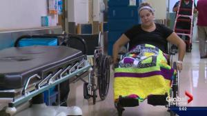 Alberta mom paralyzed while saving children from falling tree branch