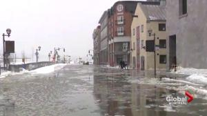 Storm surge leads to flooding in Quebec City