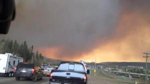 Fort McMurray wildfire from Highway 63 north Tuesday afternoon