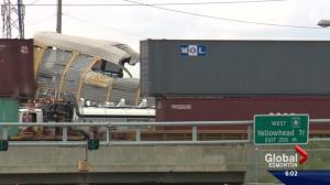 Weekend train derailment in Edmonton