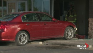 Car smashes into bank in Calgary's northeast