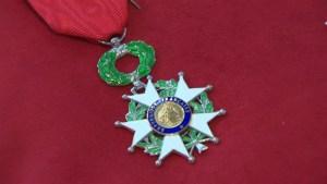 Pierre L'Heureux accepts Legion of Honour