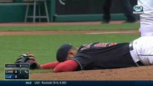 Indians pitcher injured after taking line drive to the face