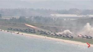 North Korean military holds massive live fire drill