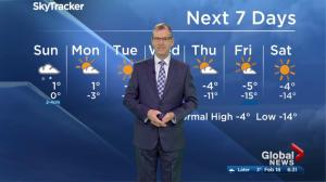Edmonton Weather Forecast: Feb 18