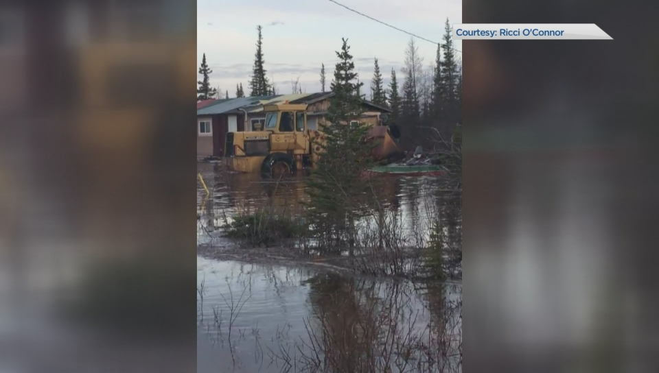 Flooding means rail service to northern Manitoba town is off until winter