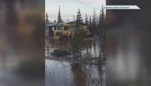 Viewer video shows flooding near Churchill, Man.