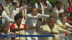 Canadians celebrate International Yoga Day