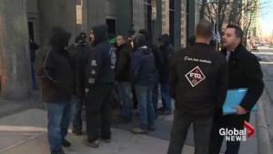 Montreal crane operators protest